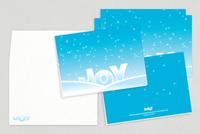 Snowy Joy Holiday Greeting Card Template