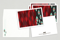 Funky Ornaments Holiday Greeting Card Template