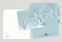 Winter Trees Holiday Greeting Card Template