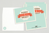 Merry & Bright Holiday Greeting Card Template