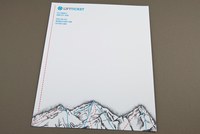 Trendy Snowboard Shop Letterhead Template