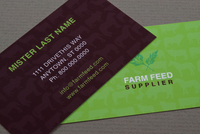 Feed Supplier Business Card Template