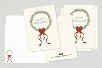 Seasonal Wreath Holiday Greeting Card Template