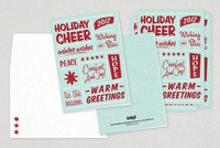 Retro Wishes Holiday Greeting Card Template