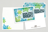 Overprint Snow Holiday Greeting Card Template