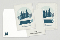 Snowglobe Holiday Greeting Card Template
