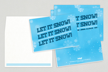 Let it Snow Holiday Greeting Card Template