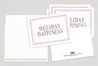 Holiday Happiness Seasonal Greeting Card Template