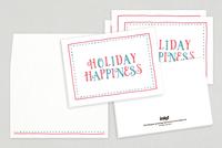 Holiday Happiness Seasonal Greeting Card Template