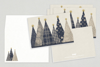 Giftwrap Trees Holiday Greeting Card Template