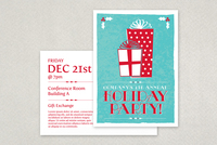 Classic Holiday Party Postcard Template
