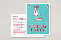 Festive Holiday Party Postcard Template
