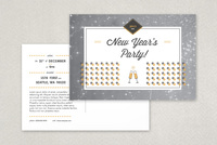 Retro New Years Party Postcard Template