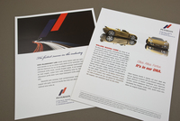 Upscale Automobile Company Data Sheet Template