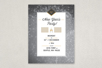 Retro New Years Party Flyer Template
