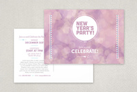 Twinkling Party Postcard Template