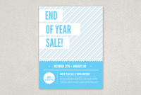 Modern Year End Sale Flyer Template