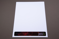Colorful Juice Bar Letterhead  Template