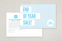 Modern Year End Sale Postcard Template