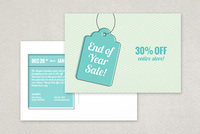 Year End Sale Postcard Template