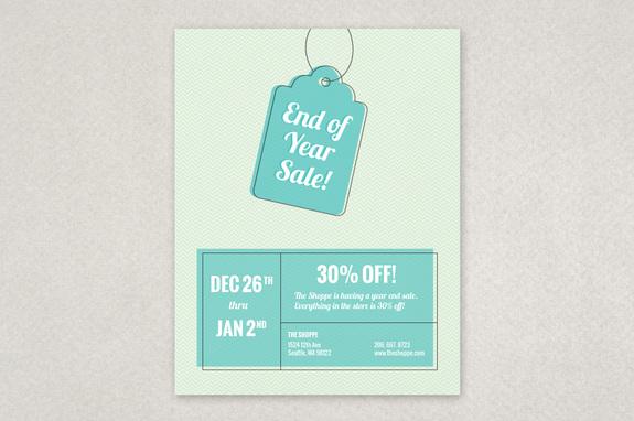 Year End Sale Flyer Template Inkd