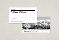 Modern Photographer's Business Card Template