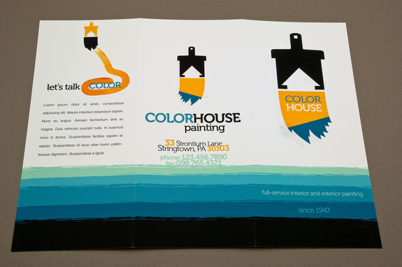 Painting Company Brochure Template  Inkd
