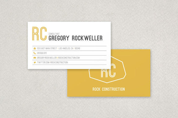 Modern Construction Business Card Template