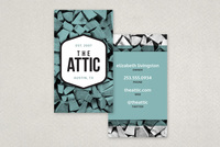 Textured Antique Store Business Card Template