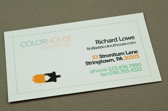 Painting Company Business Card Template Inkd