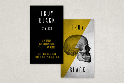 Edgy Stylist Business Card Template | Inkd