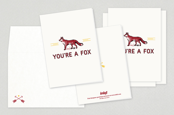 Foxy Valentine's Day Cards