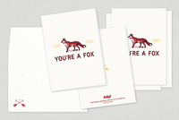Foxy Valentine's Day Cards Template