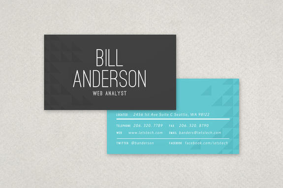 Web Analyst Business Card Template