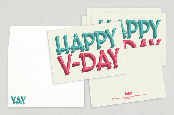 Fun Typographic Valentine's Day Cards