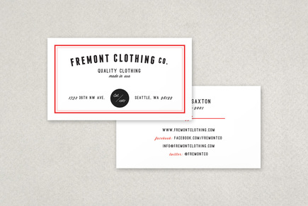 Clothing Company Business Card Template | Inkd