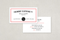 Clothing Company Business Card Template