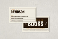 Vintage Bookstore Business Card Template