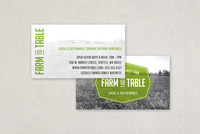 Sustainable Food Business Card Template