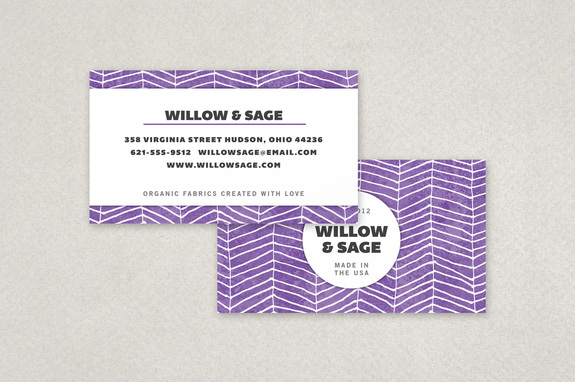 Graphic Fabric Pattern Business Card Template