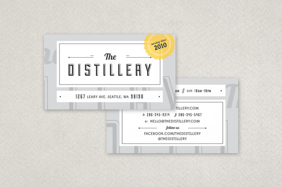 Restaurant or Bar Business Card Template