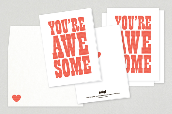 You're Awesome Valentine's Day Cards
