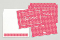 Pink Argyle Valentine's Day Card Template