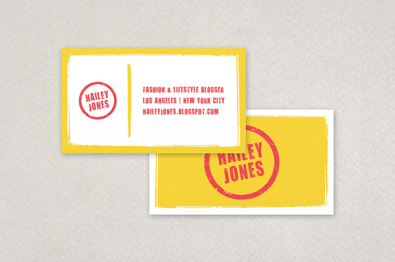 Bold Artistic Business Card Template