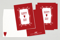 Heart Happy Valentine's Day Cards Template