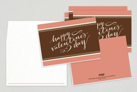 Elegant Script Valentine's Day Cards Template