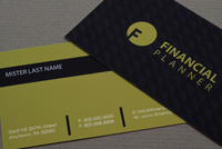 Financial Planner Business Card Template