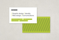 Green Stripes Tech Business Card Template