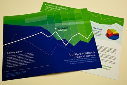 Versatile financial advisor brochure template inkd for Financial brochure templates