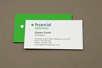 Versatile Financial Advisor Business Card Template